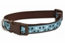 Aspen Pet Ribbon Overlay Adjustable Collar Delicious Dots 5/8in x 10-14in