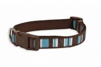 Aspen Pet Ribbon Overlay Adjustable Collar Delicious Stripes 1in x 16-26in