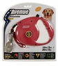 Avenue Retractable Cord Leash for Dogs, Large, 16', Red, From Hagen