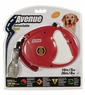 Avenue Retractable Cord Leash for Dogs, Large, 26', Red, From Hagen