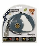 Avenue Retractable Cord Leash for Dogs, Small, 16', Gray, From Hagen