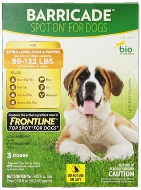 Barricade By Bio Spot On Dog Xl 89 - 132lbs 3 Month