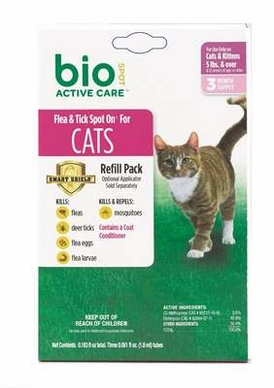 Bio Spot Active Care Spot On for Cats over 5 lbs, 3 Month Refill