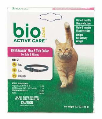 BioSpot Active Care F&T Collar for Cats and Kittens