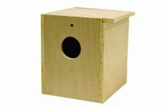 Bird Brainers LoveBird Nesting Box Inside Outside Mounting