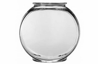 Anchor Hocking Classic Glass Drum Style Fish Bowl 1gal