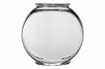 Anchor Hocking Classic Glass Drum Style Fish Bowl 2gal