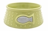 Catit Style Ceramic Dish, Dot Pattern, Lime Medium, From Hagen