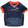 Denver Broncos Orange Trim Dog Jersey Medium