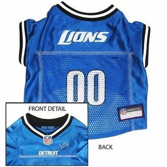 Detroit Lions NFL Dog Jersey - Large