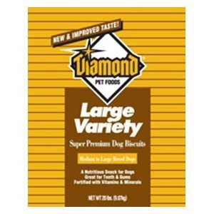 Diamond Dog Biscuits Bulk Boxes Dog Biscuit Large Variety, 20 Lb Each