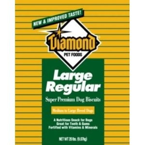 Diamond Dog Biscuits Bulk Boxes Dog Biscuit Medium Golden, 20 Lb Each