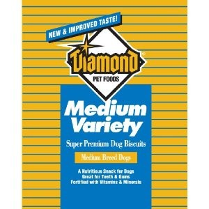 Diamond Dog Biscuits Poly Bags Dog Biscuit Med. Variety, 6 Pack Of 4 Lb Case
