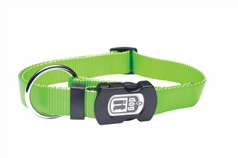 """Dogit Adjustable Nylon Collar with Snap - Single Ply 3/8""""x 10""""-16"""" green, From Hagen"""