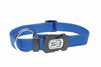 """Dogit Adjustable Nylon Collar with Snap - Single Ply 5/8""""x 12""""-18"""" blue, From Hagen"""