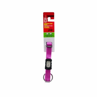 """Dogit Adjustable Nylon Collar with Snap - Single Ply 5/8""""x 12""""-18"""" purple, From Hagen"""