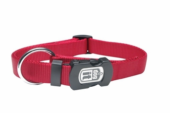 """Dogit Adjustable Nylon Collar with Snap - Single Ply 5/8""""x 12""""-18"""" red, From Hagen"""