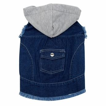 Dogit Denim Jacket with Hood, Dark Blue, XL, From Hagen