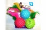 North American Pet Classy Kitty Feather Ball 3pk