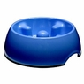 Dogit Go Slow Anti-Gulping Bowl, Blue, Large, From Hagen
