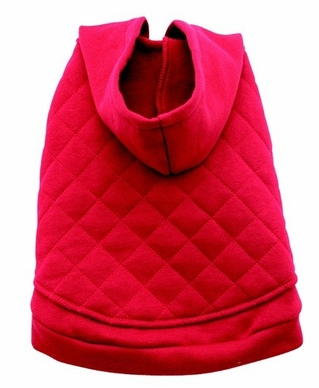 Dogit Hooded Sweater Coat, red, large, From Hagen