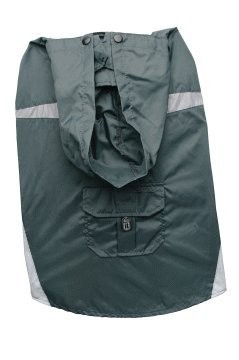 Dogit Hooded Waterproof Raincoat, Charcoal, Large, From Hagen