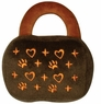 Dogit Luvz Dog Toys, Brown Bag w/hearts, From Hagen