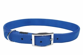 """Dogit Nylon Collar with Buckle - Double Ply 1""""x 22"""" blue, From Hagen"""