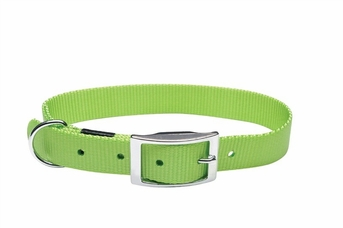 """Dogit Nylon Collar with Buckle - Double Ply 1""""x 26"""" green, From Hagen"""