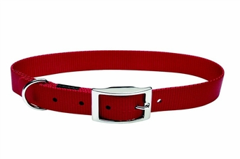 """Dogit Nylon Collar with Buckle - Single Ply 1""""x 22"""" red, From Hagen"""