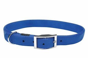 """Dogit Nylon Collar with Buckle - Single Ply 3/4""""x 20"""" blue, From Hagen"""