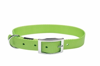 """Dogit Nylon Collar with Buckle - Single Ply 5/8""""x 14"""" green, From Hagen"""