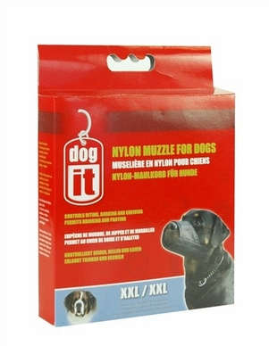 "Dogit Nylon Dog Muzzle, Black, XX-Large, 11.8"", From Hagen"