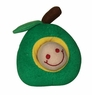 Dogit Plush Worm, Green Apple Fruity Toy, From Hagen