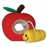 Dogit Plush Worm, Red Apple Fruity Toy, From Hagen
