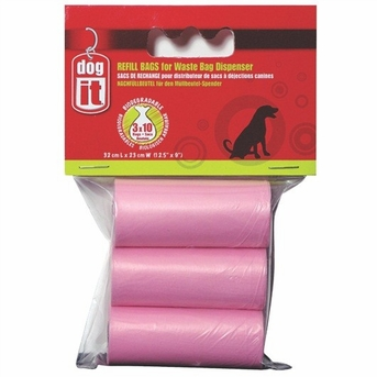 Dogit Replacement Bags for D180, Pink, 3 rolls, From Hagen