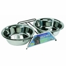 Dogit Stainless Steel Double Dog Diner, Extra Large, From Hagen