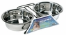 Dogit Stainless Steel Double Dog Diner, Large, From Hagen