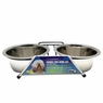 Dogit Stainless Steel Double Dog Diner, Medium, From Hagen