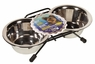 Dogit Stainless Steel Double Dog Diner, Mini, From Hagen