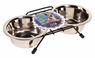 Dogit Stainless Steel Double Dog Diner, Small, From Hagen