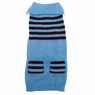 Dogit Striped Sweater, Ice Blue, Medium , From Hagen