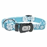 "Dogit Style Adjustable Nylon Collar with plastic snap - Aloha, Blue, X-Small 3/8""x 6""-10"", From Hagen"