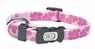"Dogit Style Adjustable Nylon Collar with plastic snap - Aloha, Pink, X-Small 3/8""x 6""-10"", From Hagen"