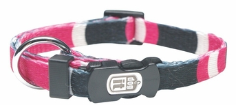 """Dogit Style Adjustable Nylon Collar with plastic snap - Cobra, Pink, X-Small 3/8""""x 6""""-10"""", From Hagen"""