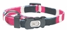 "Dogit Style Adjustable Nylon Collar with plastic snap - Cobra, Pink, X-Small 3/8""x 6""-10"", From Hagen"