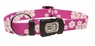 "Dogit Style Adjustable Nylon Collar with plastic snap & ID plate- Aloha, Purple, Large 3/4""x 16""-22"" , From Hagen"