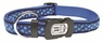 "Dogit Style Adjustable Nylon Collar with plastic snap & ID plate- Footloose, Blue on Blue nylon, X-Large 1""x 18""-26"" , From Hagen"