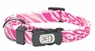 "Dogit Style Adjustable Nylon Collar with plastic snap - Jungle Fever, Pink, X-Small 3/8""x 6""-10"", From Hagen"