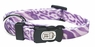 "Dogit Style Adjustable Nylon Collar with plastic snap - Jungle Fever, Purple, X-Small 3/8""x 6""-10"", From Hagen"
